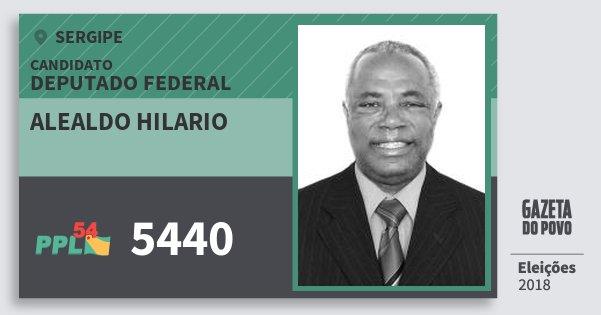 Santinho Alealdo Hilario 5440 (PPL) Deputado Federal | Sergipe | Eleições 2018