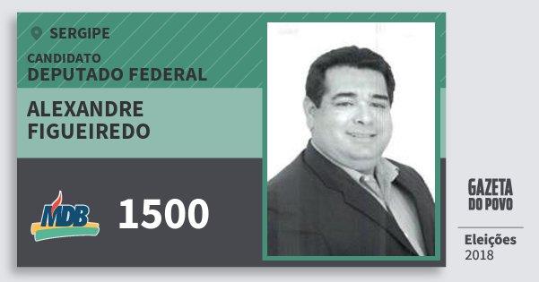 Santinho Alexandre Figueiredo 1500 (MDB) Deputado Federal | Sergipe | Eleições 2018
