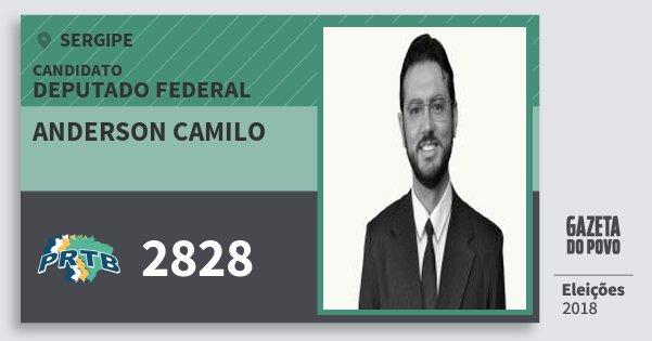 Santinho Anderson Camilo 2828 (PRTB) Deputado Federal | Sergipe | Eleições 2018