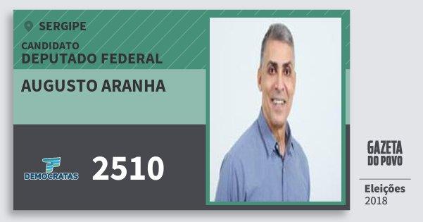 Santinho Augusto Aranha 2510 (DEM) Deputado Federal | Sergipe | Eleições 2018
