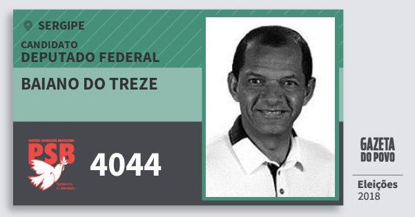 Santinho Baiano do Treze 4044 (PSB) Deputado Federal | Sergipe | Eleições 2018