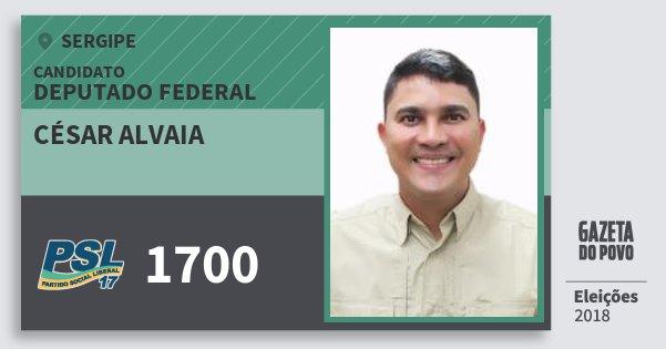 Santinho César Alvaia 1700 (PSL) Deputado Federal | Sergipe | Eleições 2018