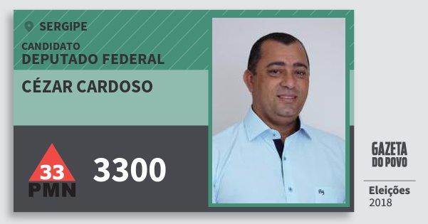 Santinho Cézar Cardoso 3300 (PMN) Deputado Federal | Sergipe | Eleições 2018