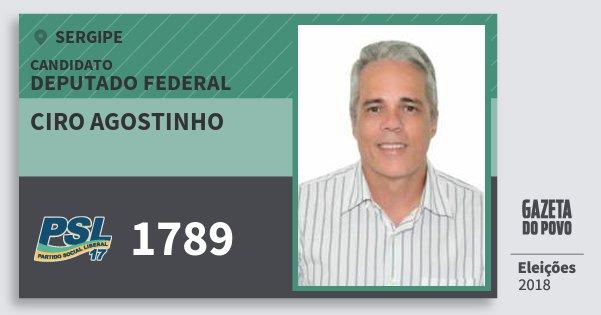 Santinho Ciro Agostinho 1789 (PSL) Deputado Federal | Sergipe | Eleições 2018