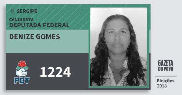Santinho Denize Gomes 1224 (PDT) Deputada Federal | Sergipe | Eleições 2018