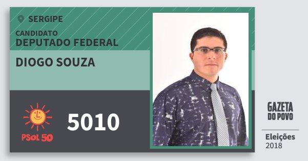 Santinho Diogo Souza 5010 (PSOL) Deputado Federal | Sergipe | Eleições 2018
