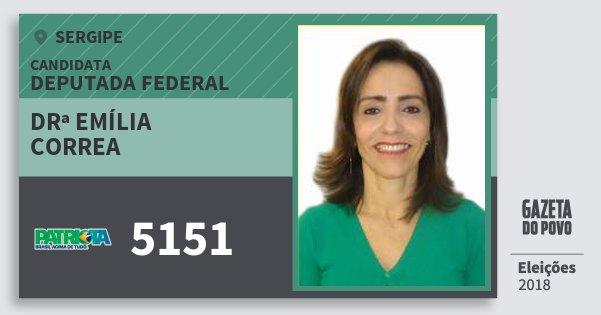 Santinho Drª Emília Correa 5151 (PATRI) Deputada Federal | Sergipe | Eleições 2018