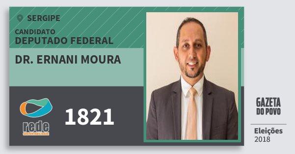Santinho Dr. Ernani Moura 1821 (REDE) Deputado Federal | Sergipe | Eleições 2018