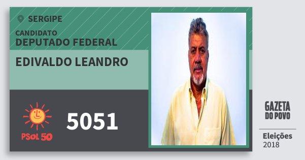 Santinho Edivaldo Leandro 5051 (PSOL) Deputado Federal | Sergipe | Eleições 2018