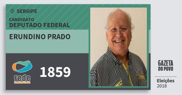 Santinho Erundino Prado 1859 (REDE) Deputado Federal | Sergipe | Eleições 2018