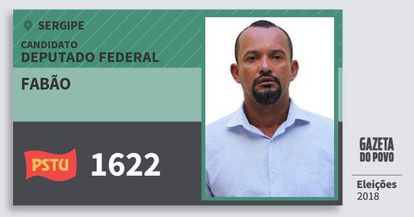 Santinho Fabão 1622 (PSTU) Deputado Federal | Sergipe | Eleições 2018