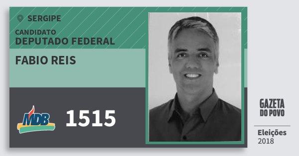 Santinho Fabio Reis 1515 (MDB) Deputado Federal | Sergipe | Eleições 2018