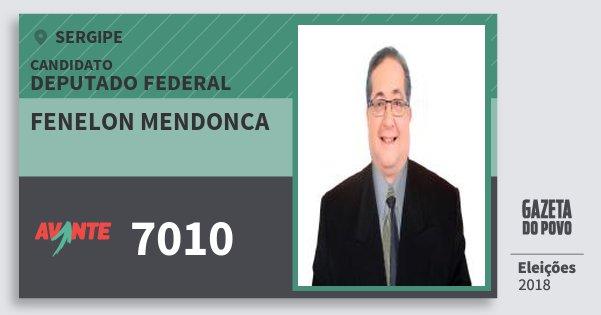 Santinho Fenelon Mendonca 7010 (AVANTE) Deputado Federal | Sergipe | Eleições 2018