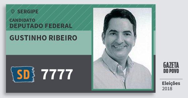 Santinho Gustinho Ribeiro 7777 (SOLIDARIEDADE) Deputado Federal | Sergipe | Eleições 2018