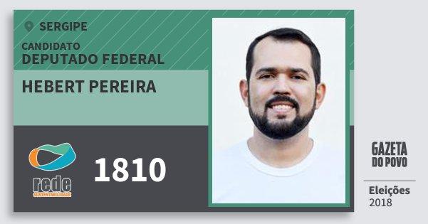 Santinho Hebert Pereira 1810 (REDE) Deputado Federal | Sergipe | Eleições 2018