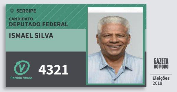 Santinho Ismael Silva 4321 (PV) Deputado Federal | Sergipe | Eleições 2018