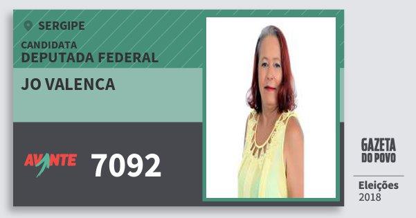 Santinho Jo Valenca 7092 (AVANTE) Deputada Federal | Sergipe | Eleições 2018