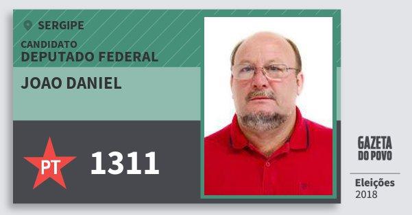 Santinho Joao Daniel 1311 (PT) Deputado Federal | Sergipe | Eleições 2018