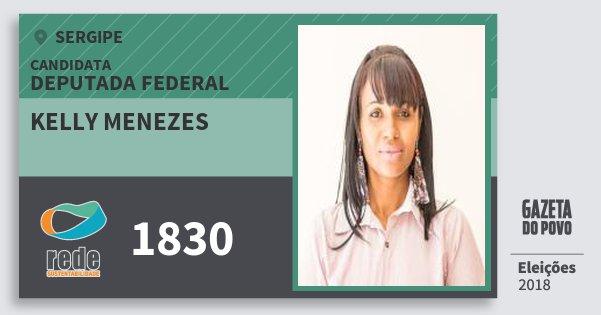 Santinho Kelly Menezes 1830 (REDE) Deputada Federal | Sergipe | Eleições 2018