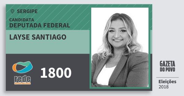 Santinho Layse Santiago 1800 (REDE) Deputada Federal | Sergipe | Eleições 2018