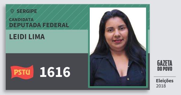 Santinho Leidi Lima 1616 (PSTU) Deputada Federal | Sergipe | Eleições 2018