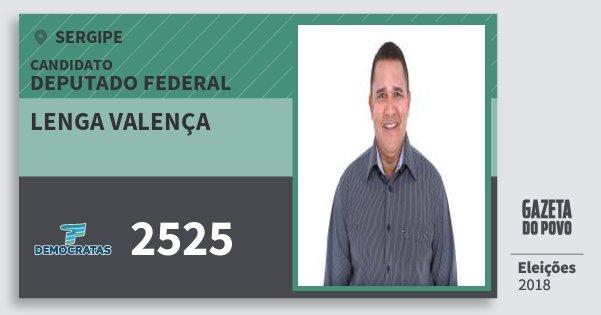 Santinho Lenga Valença 2525 (DEM) Deputado Federal   Sergipe   Eleições 2018