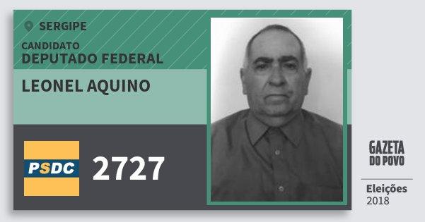 Santinho Leonel Aquino 2727 (DC) Deputado Federal | Sergipe | Eleições 2018