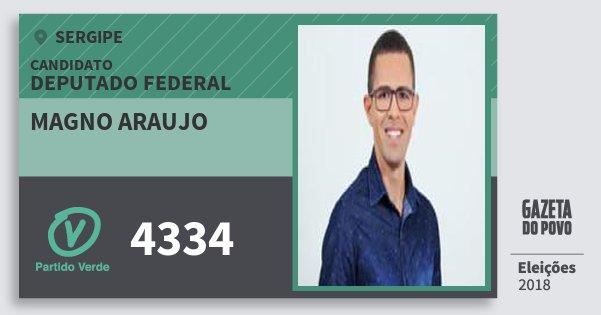 Santinho Magno Araujo 4334 (PV) Deputado Federal | Sergipe | Eleições 2018