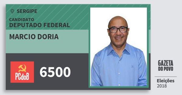 Santinho Marcio Doria 6500 (PC do B) Deputado Federal   Sergipe   Eleições 2018