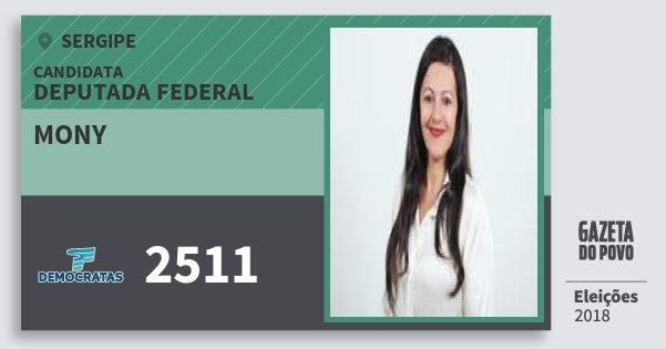 Santinho Mony 2511 (DEM) Deputada Federal | Sergipe | Eleições 2018