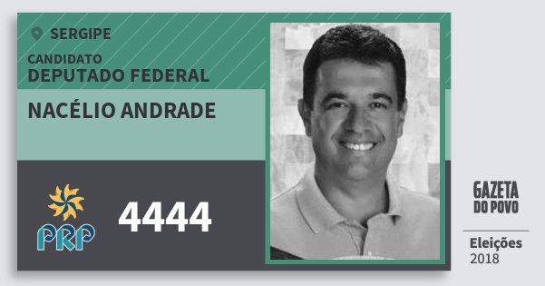 Santinho Nacélio Andrade 4444 (PRP) Deputado Federal | Sergipe | Eleições 2018