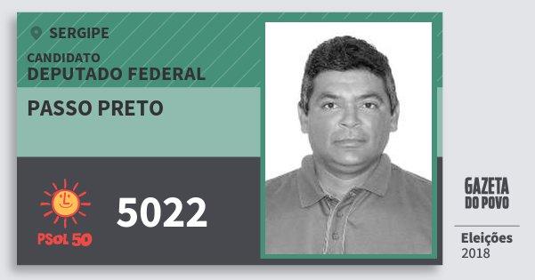 Santinho Passo Preto 5022 (PSOL) Deputado Federal | Sergipe | Eleições 2018