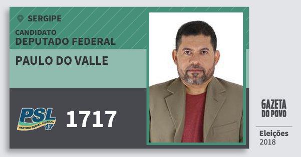 Santinho Paulo do Valle 1717 (PSL) Deputado Federal | Sergipe | Eleições 2018