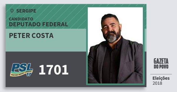 Santinho Peter Costa 1701 (PSL) Deputado Federal | Sergipe | Eleições 2018