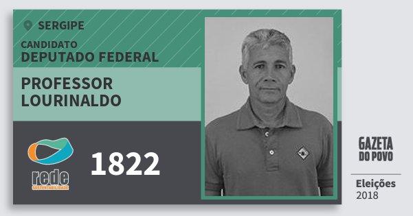 Santinho Professor Lourinaldo 1822 (REDE) Deputado Federal | Sergipe | Eleições 2018