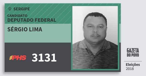 Santinho Sérgio Lima 3131 (PHS) Deputado Federal | Sergipe | Eleições 2018