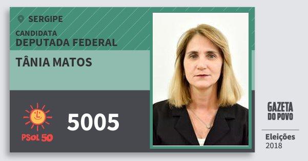 Santinho Tânia Matos 5005 (PSOL) Deputada Federal | Sergipe | Eleições 2018