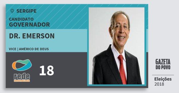 Santinho Dr. Emerson 18 (REDE) Governador | Sergipe | Eleições 2018