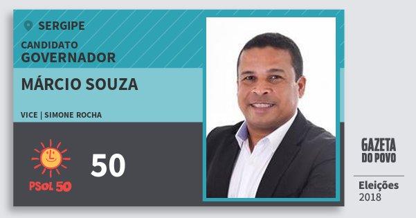 Santinho Márcio Souza 50 (PSOL) Governador | Sergipe | Eleições 2018