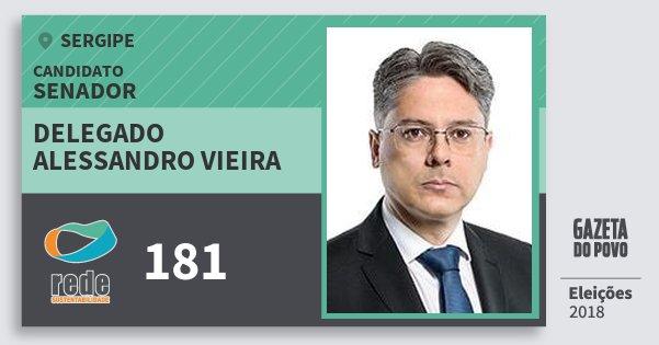Santinho Delegado Alessandro Vieira 181 (REDE) Senador | Sergipe | Eleições 2018