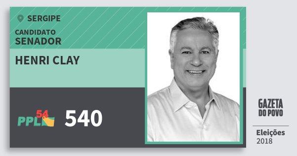 Santinho Henri Clay 540 (PPL) Senador | Sergipe | Eleições 2018