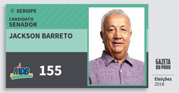 Santinho Jackson Barreto 155 (MDB) Senador | Sergipe | Eleições 2018