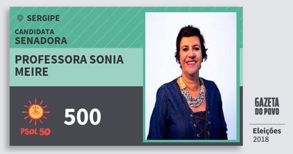 Santinho Professora Sonia Meire 500 (PSOL) Senadora | Sergipe | Eleições 2018