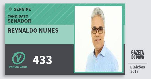 Santinho Reynaldo Nunes 433 (PV) Senador | Sergipe | Eleições 2018