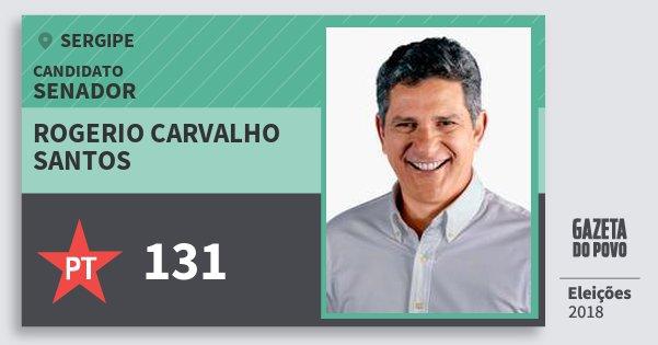 Santinho Rogerio Carvalho Santos 131 (PT) Senador | Sergipe | Eleições 2018