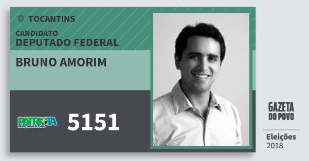 Santinho Bruno Amorim 5151 (PATRI) Deputado Federal | Tocantins | Eleições 2018