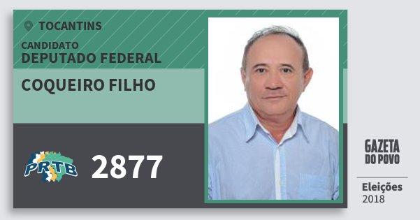 Santinho Coqueiro Filho 2877 (PRTB) Deputado Federal | Tocantins | Eleições 2018