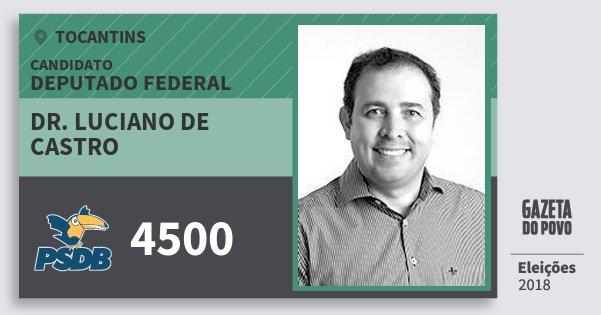 Santinho Dr. Luciano de Castro 4500 (PSDB) Deputado Federal   Tocantins   Eleições 2018