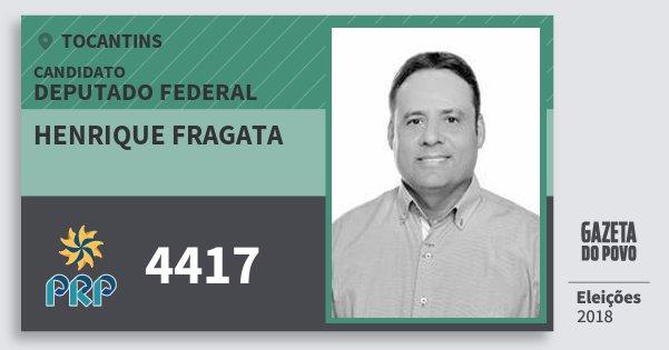 Santinho Henrique Fragata 4417 (PRP) Deputado Federal   Tocantins   Eleições 2018