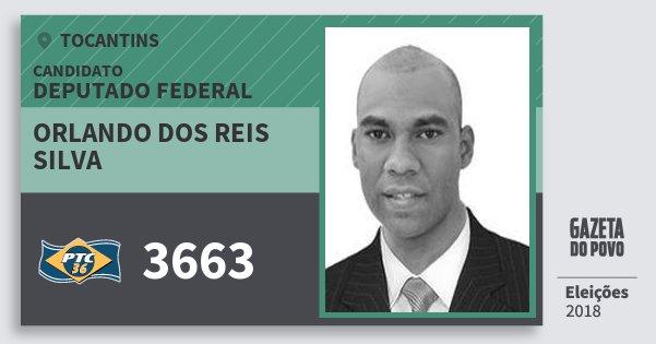 Santinho Orlando dos Reis Silva 3663 (PTC) Deputado Federal   Tocantins   Eleições 2018